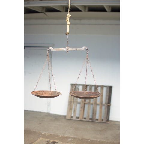 Antique Iron Weighing Scale