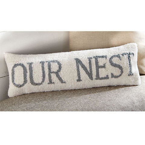 Our Nest Hooked Pillow