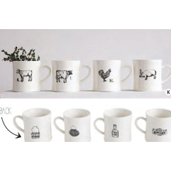 NEW Farm Mugs - Set of 4