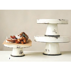 Distressed Enamel Pedestals Set of 3