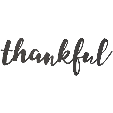 Thankful Metal Word Cutout