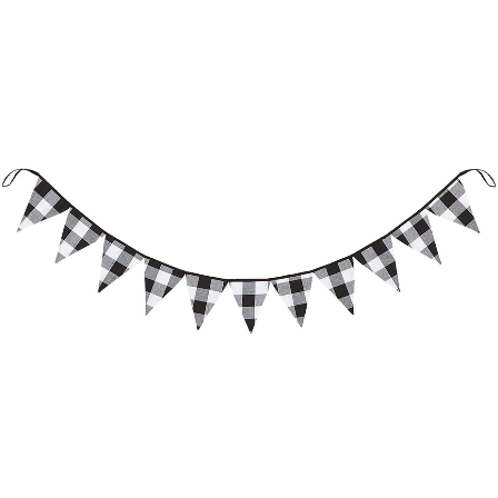 Buffalo Check Pennant Garland