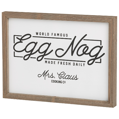 Egg Nog Box Sign