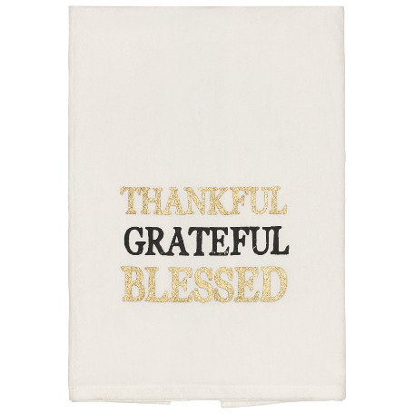 Thankful Grateful Blessed Towel - Set of 2