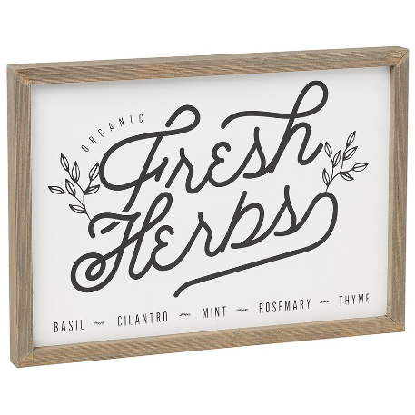 Fresh Herbs Sign