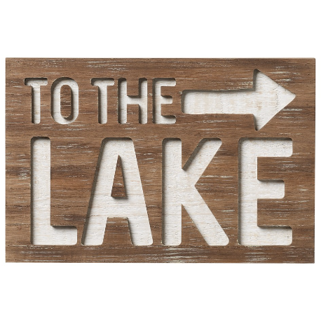 To the Lake Router Sign