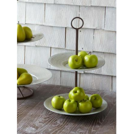 Set of Faux Green Apples