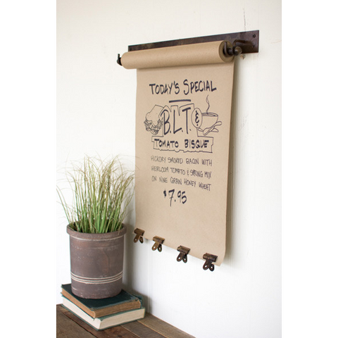 Large Hanging Note Roll