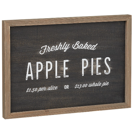 Freshly Baked Apple Pies Sign