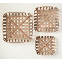 Tobacco Baskets Set of 3