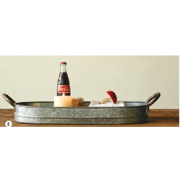 Zinc Tray with Handles