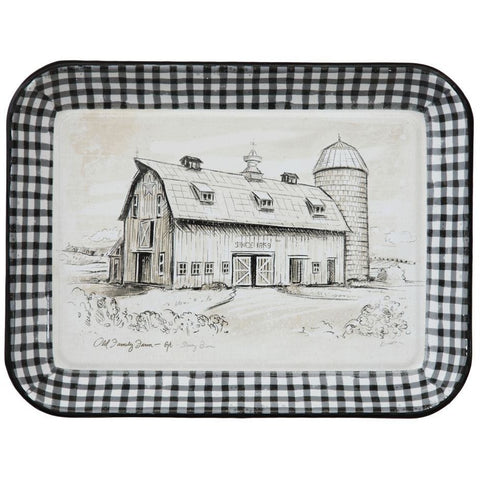 Buffalo Check Enamel Tray