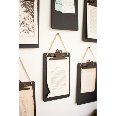 Set of Hanging Black ClipBoards