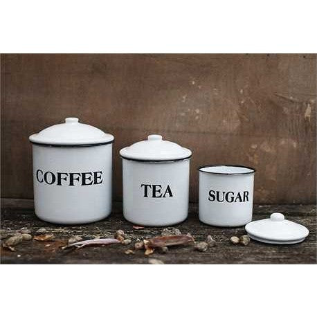 Enamel Canisters Set of 3