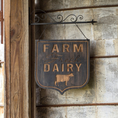 Farm Fresh Dairy Bracket Sign