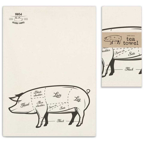 Farm Fresh Pork Tea Towel