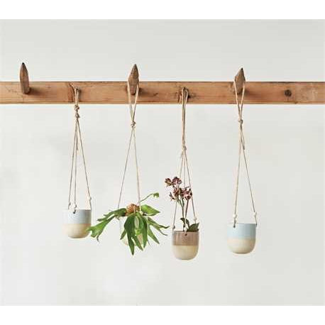 Glazed Hanging Planters - Set of 4