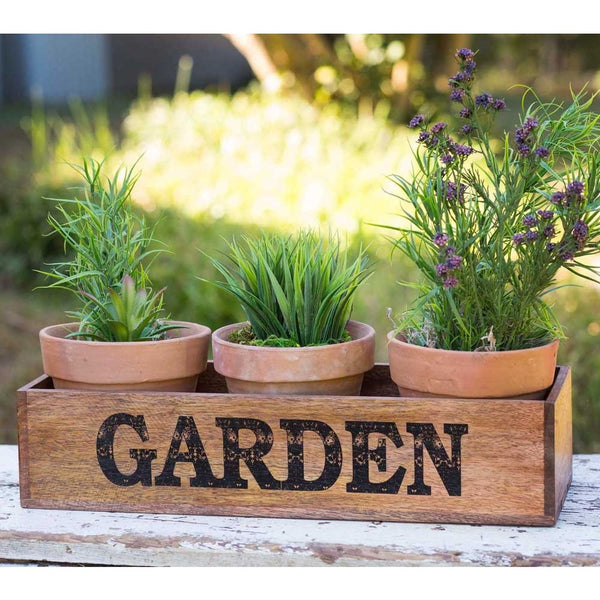Garden Caddy with Pots