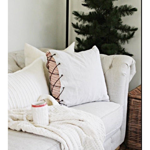Farmhouse Ticking Pillow
