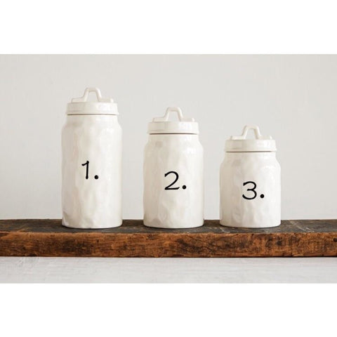Set of Numbered Canisters