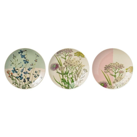 Botanical Plates Set of 3