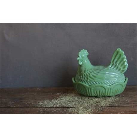 Milk Glass Hen Dish