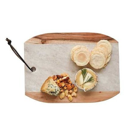 Marble & Mango Wood Cutting Board