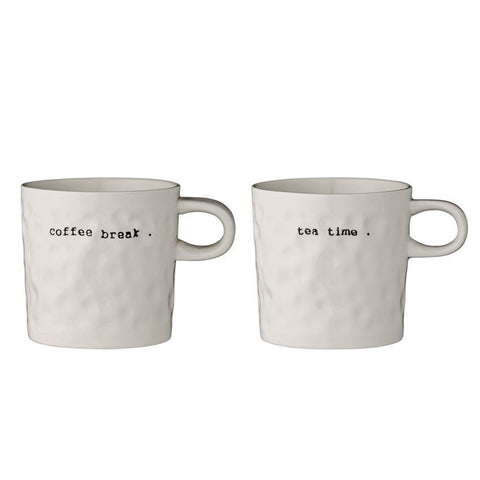 Coffee Break & Tea Time Mug Set