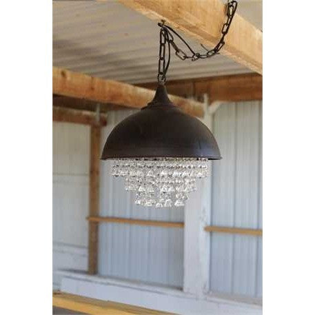 Metal & Crystal Chandelier