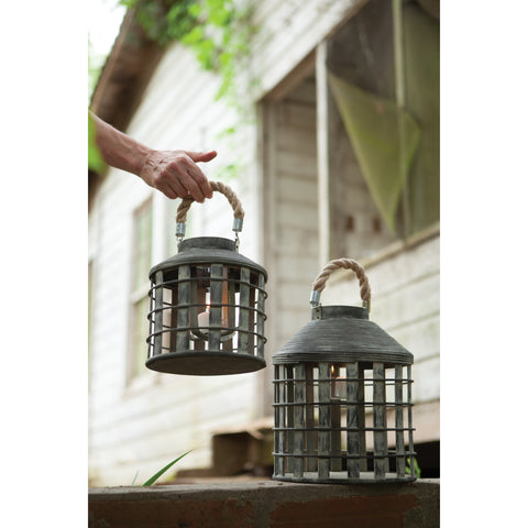 Set of Dark Gray Lanterns