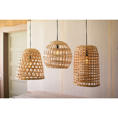 Wood Globe Basket Light