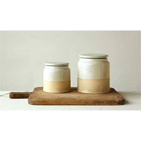 Matte Glazed Canisters Set of 2