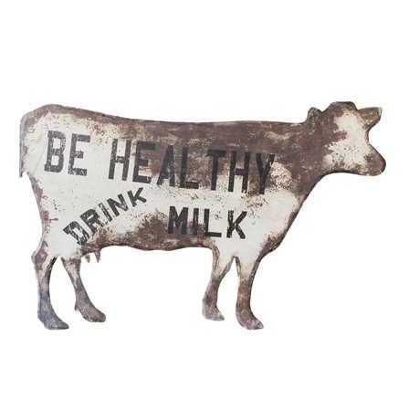 Metal Cow Sign