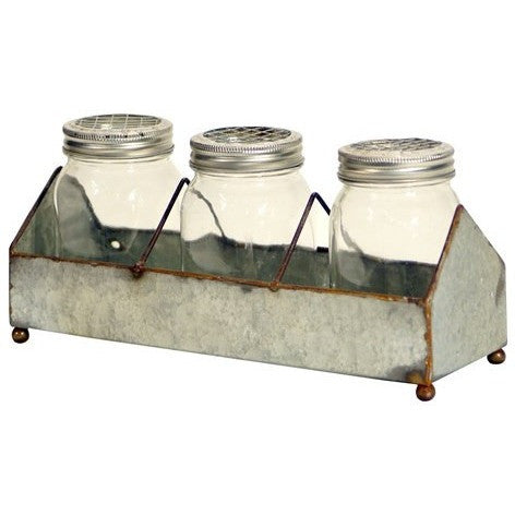 Galvanized Tray with Bottles