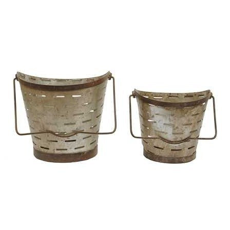 Set of 2 Olive Buckets
