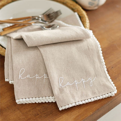 Happy Napkin Set
