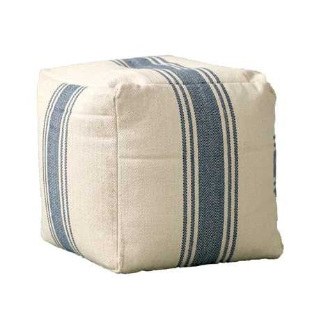 Grain Stripe Pouf