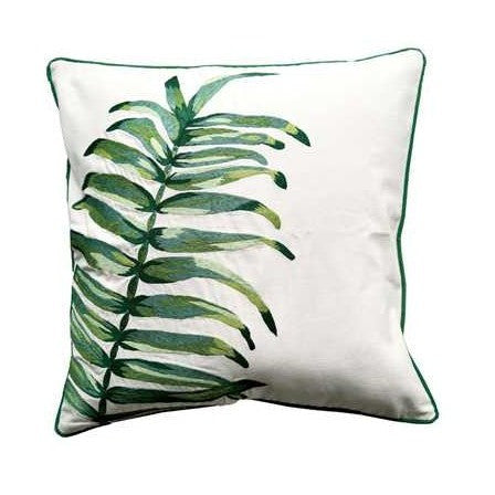 Embroidered Palm Pillow