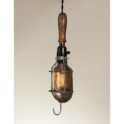 Vintage Pendant Light with Reflector