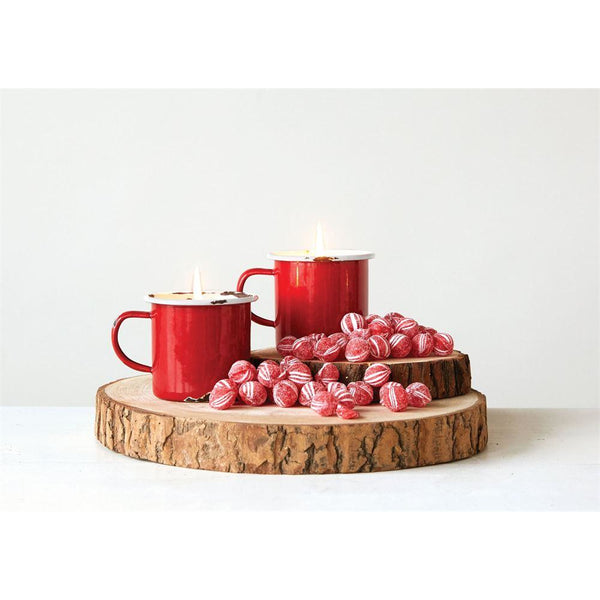 Distressed Enamel Mug Candle