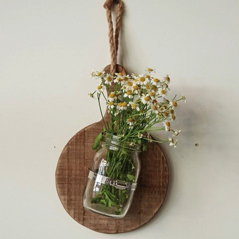 Hanging Bread Board with Vase