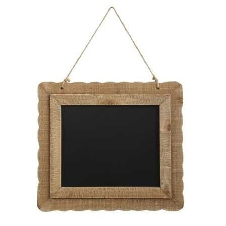 Wood Scalloped Frame Chalk Board