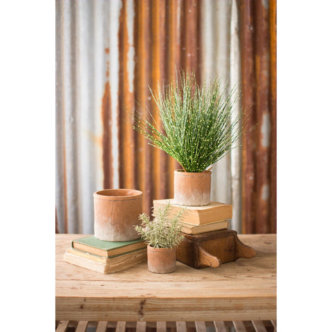 Set of Distressed Terra Cotta Pots