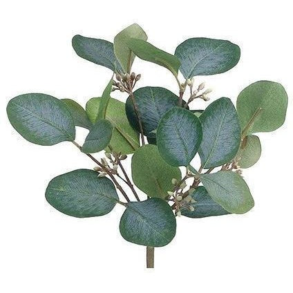 Faux Silver Dollar Eucalyptus Bush - Set of 3