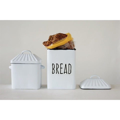 "15"" Bread Box with Lid"
