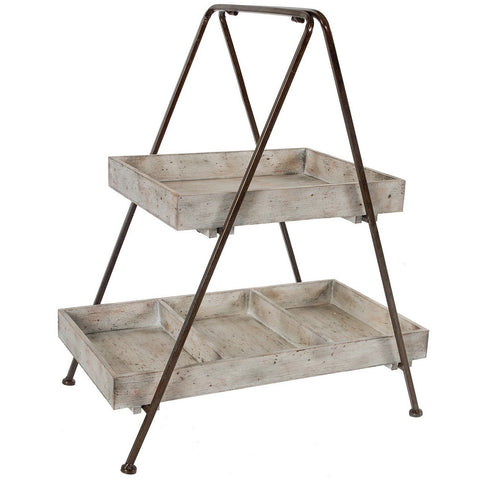 Two Tiered Wood Organizer