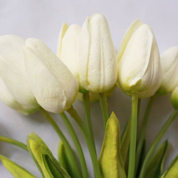 Artificial White Tulips