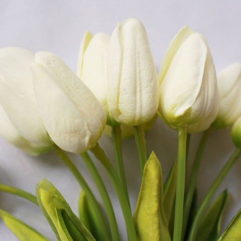 Artificial White Mini Tulips
