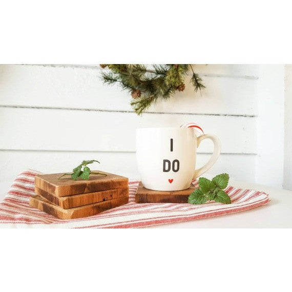 Set of 4 Barn Wood Coasters