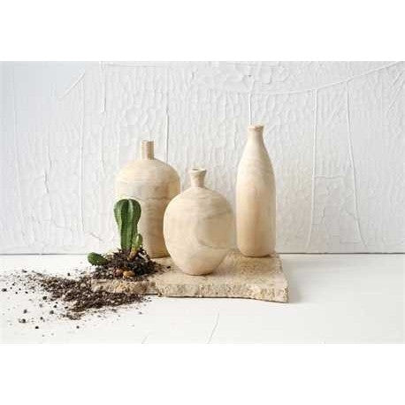 Wood Vases Set of 3